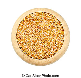 Gold Flax seeds, Linseed, Lin seeds close-up - Gold Flax...