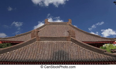 Roof decorationsXian,China - Roof decorations on the...