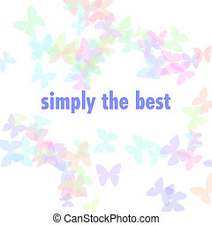 simply the best illustration - pastel butterflies scattered...
