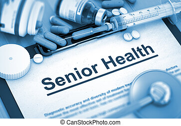 Senior Health Diagnosis. Medical Concept. 3D. - Senior...