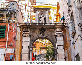 Genoa old town HDR