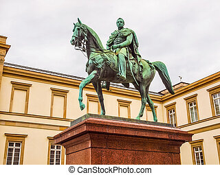 Wilhelm I monument HDR - High dynamic range HDR Statue of...