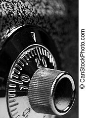 Combination lock close up - Combination lock. Black and...