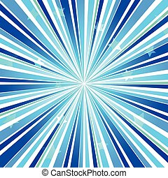 Abstract Star Burst Ray Background Blue