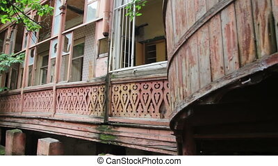 Old Town Tbilisi, Georgia. Old historical buildings. The...