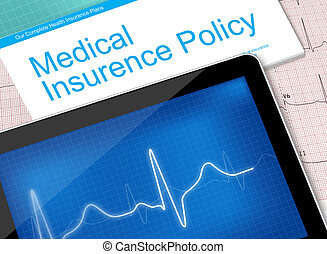 Medical insurance policy and electrocardiogram