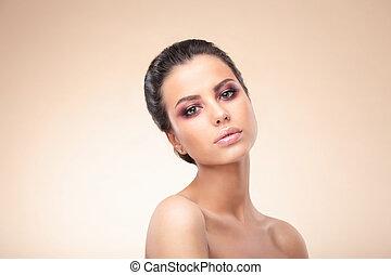 Woman beauty skin.
