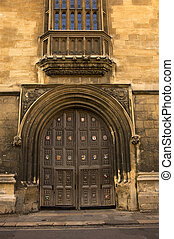 Bodleian Library, Oxford, England - Entrance to the Bodleian...