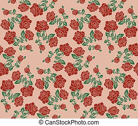 Color image of flowers (roses) using traditional Ukrainian...