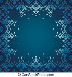 Seamless border in Syrian style. Element for design. You can...