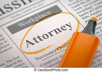 We are Hiring Attorney 3D Rendering - A Newspaper Column in...