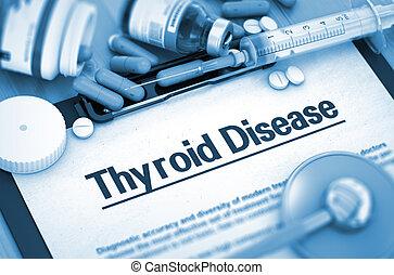 thyroïde, maladie, diagnostic, Monde Médical, concept, 3D,...
