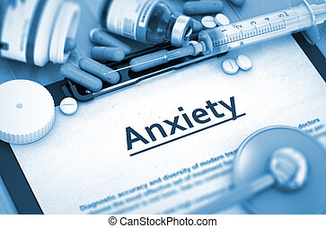 Anxiety Diagnosis. Medical Concept. Composition of...
