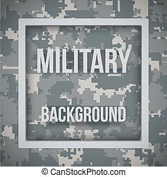 Military modern pixel camo background - Military modern...