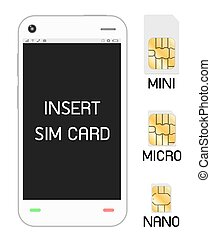 smartphone with sim card