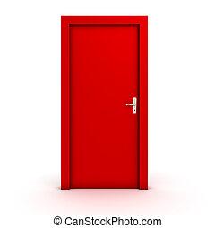 Geschlossene tür  Clipart von tür, geschlossene - Closed, door., 3d, abbildung ...