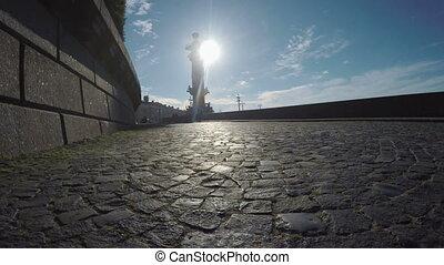 Rastralnye tower in St. Petersburg - RUSSIA, SAINT...