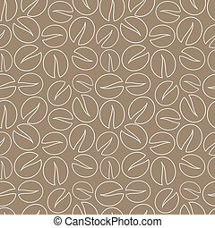 Coffee seamless pattern vector - Coffee beans seamless...