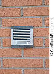 Buzzer Intercom in Brick Wall