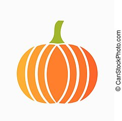 Pumpkin icon vector - Pumpkin icon Vector illustration