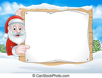 Santa Christmas Sign Background - A happy Christmas Santa...