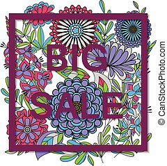 Big sale on autumn flowers - Vector big sale on autumn...