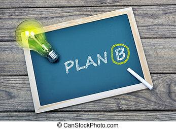 Plan B text on school board