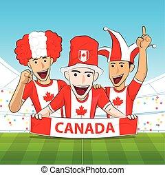 Canada Sport Fan Vector