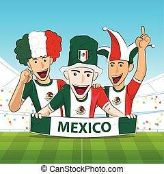 Mexico Sport Fan Vector