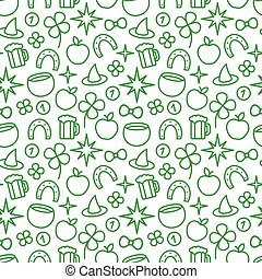 St. Patricks Day Seamless Pattern - St. Patricks day green...