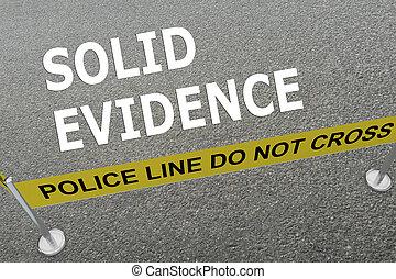 sólido, concepto, evidencia