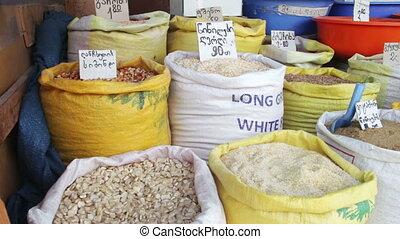 Grain in Sacks on the Market in Georgia - Showcases Grain in...