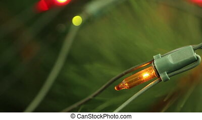 flashing light garlands. macro. - flashing light garlands....