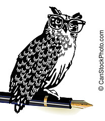 owl, classical writer