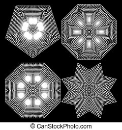 The circular geometric pattern of small squares
