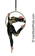3D Rendering Circus Performer on White - 3D rendering of a...