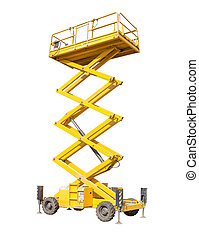 Scissor self propelled lift on a light background - Mobile...