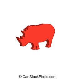 Rhinoceros. Bulk illustration