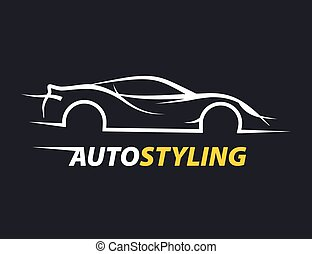 Concept auto styling car logo with supercar sports vehicle...