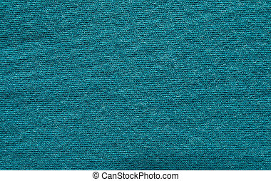 Close up blue woollen knitted fabric texture. Angora background