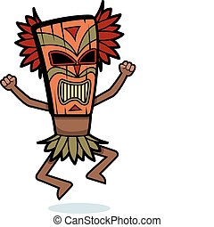 Witch Doctor - A cartoon witch doctor with a mask on.