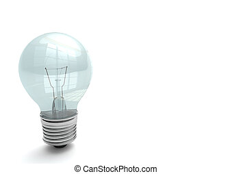 Bulb on the white background