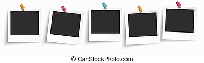 5 Instant Photos Header - 5 instant photos on the white...