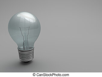 Bulb Gray Background - Bulb on the gray background.
