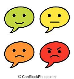 Emoticon bubble text simple vector