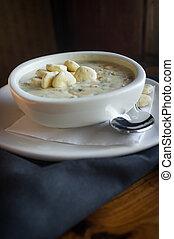 New England Clam Chowder - Creamy New England Clam Chowder...