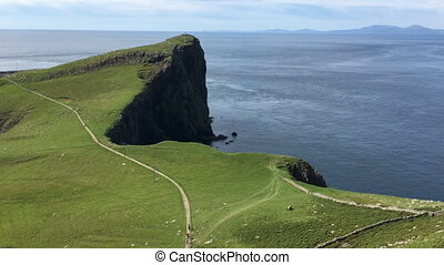 View at Neist Point in Skye, Scotland - A View at Neist...