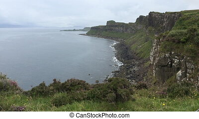 Clifftop view of the coastline of the Isle of Skye - A...
