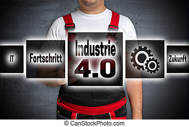 Industrie 40 in german industry Progress future touchscreen...