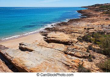 View seascape near Luz, Algarve, Portugal
